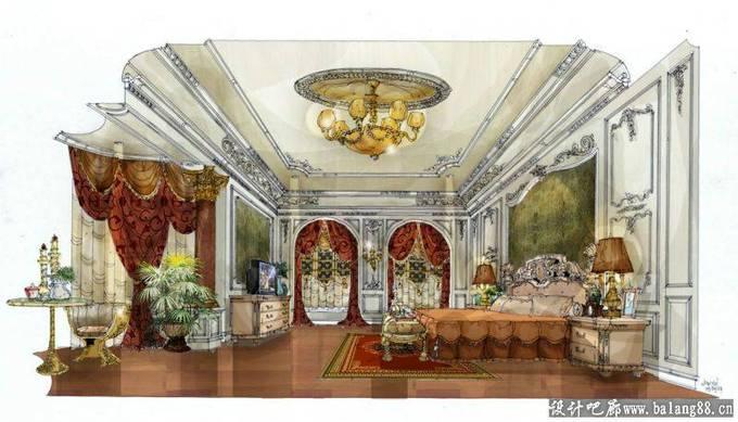 顶级欧式手绘_河南室内设计网