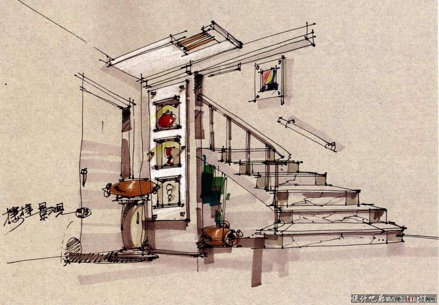 杨健手绘效果图作品
