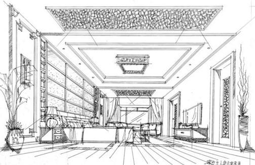 容苑强室内设计手绘作品