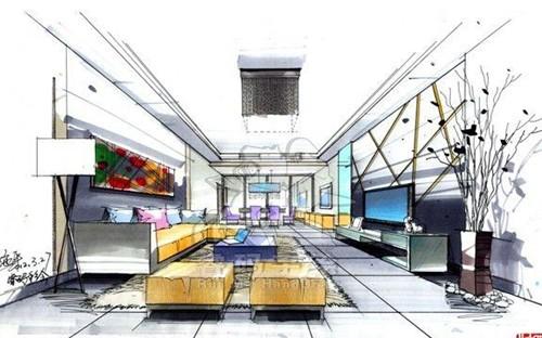 施平手绘作品_河南室内设计网