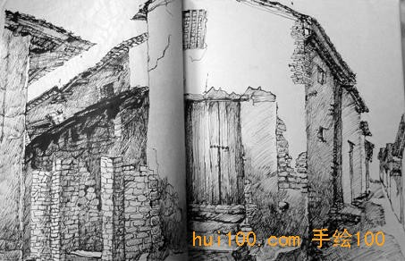 张志华的建筑手绘图作品_河南室内设计网