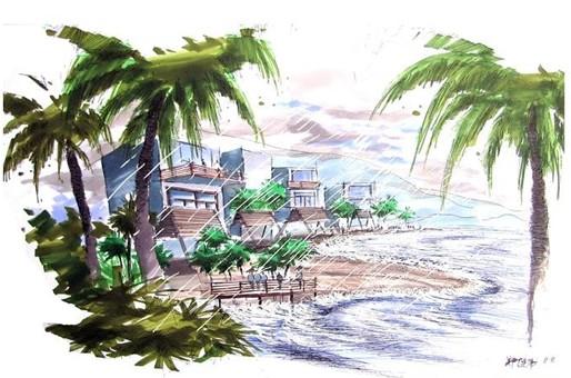 郑健伟的景观设计手绘图