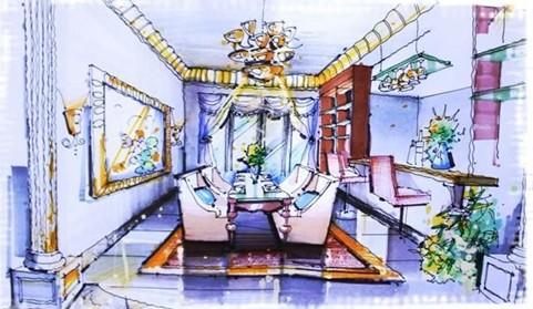 老钱室内设计手绘作品_河南室内设计网