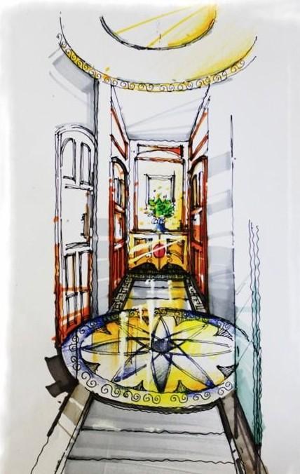 老钱室内设计手绘作品