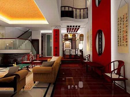 中国风装修3d效果图 80后夫妻创意设计_河南室内设计