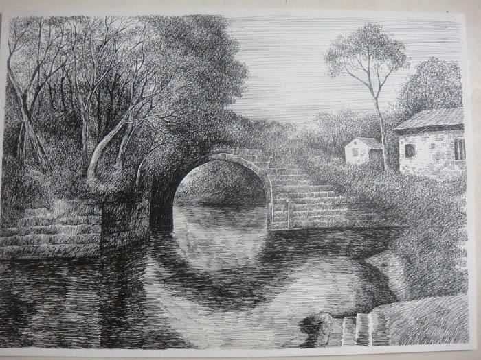 潇潇雨zhang钢笔绘画作品