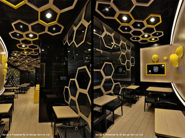 蜂巢空间 广州rice home高档餐厅设计图片
