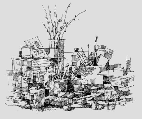 夏克梁手绘欣赏_河南室内设计网