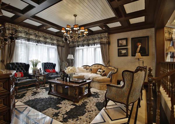通过考究的家俬,精致的陈设和挑剔的布艺搭配使空间达到无规则图片