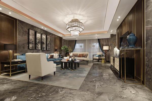 新东润泰和新中式样板间_河南室内设计网