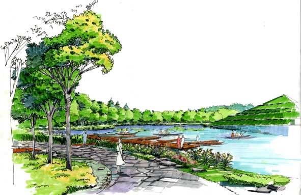 景观手绘效果图_河南室内设计网