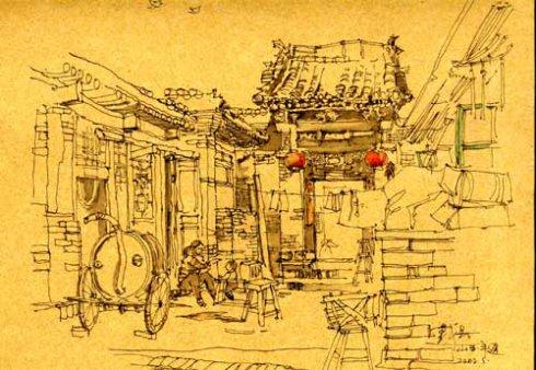 戴昆手绘图欣赏_河南室内设计网