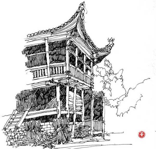 黄力炯手绘图欣赏_河南室内设计网